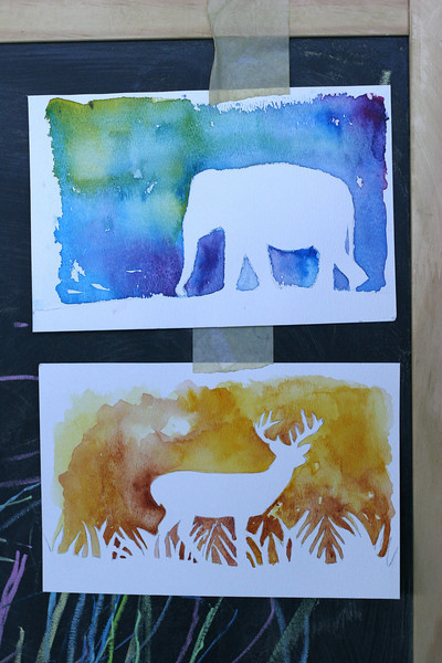 Watercolor silhouettes fun family crafts for Watercolor painting and projects