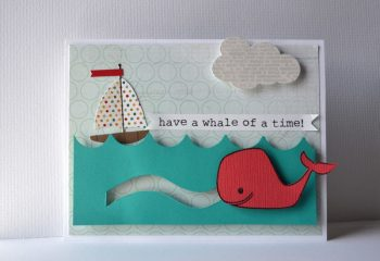Swimming Whale Card