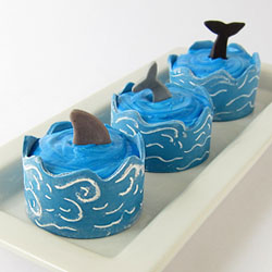 Edible Cupcake Wrapper Waves