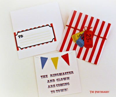 Circus Party Invitation  Fun Family Crafts
