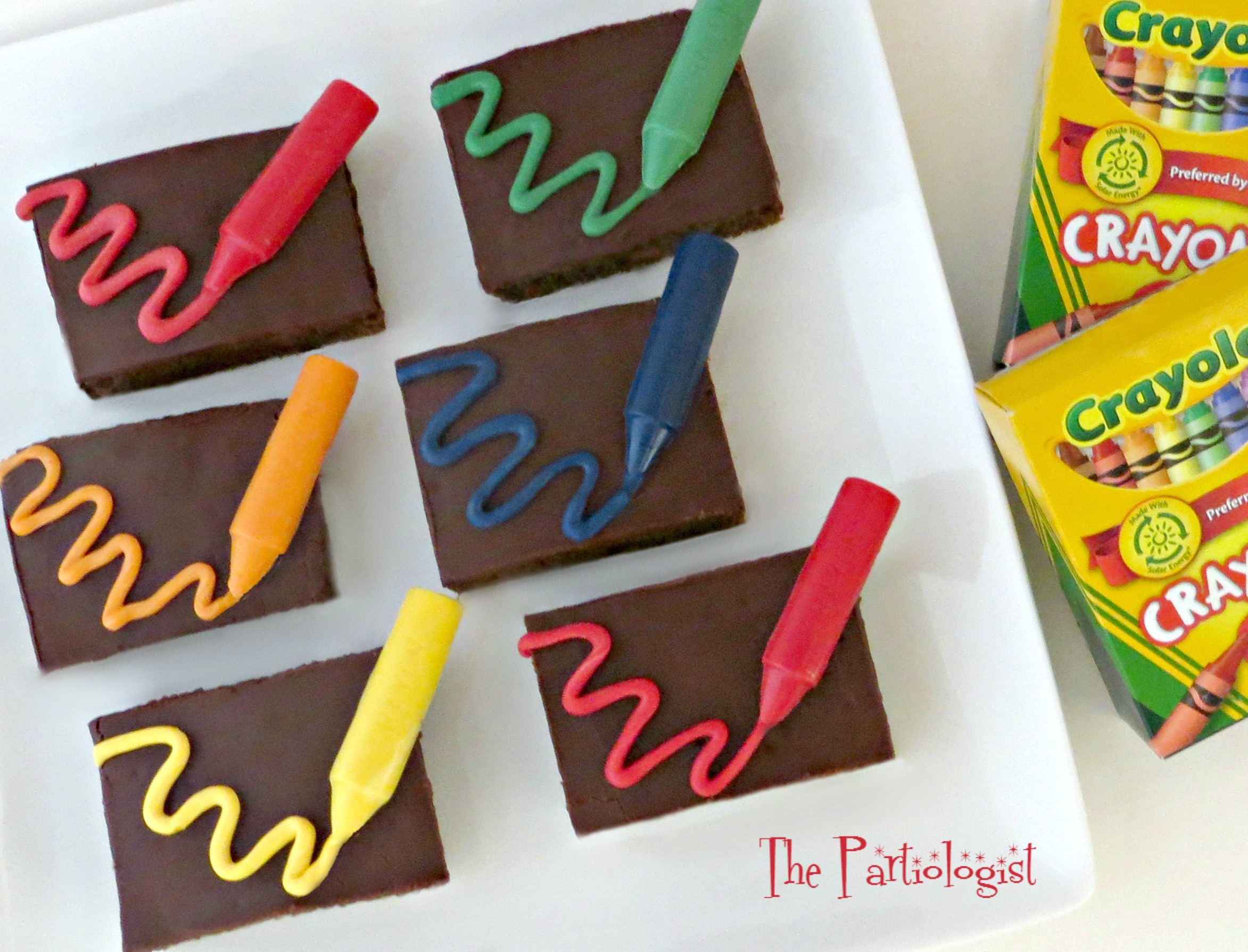 Crayon Scribbled Brownies