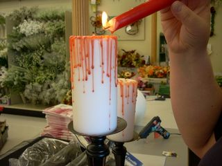 """Bloody"" Halloween Candle"