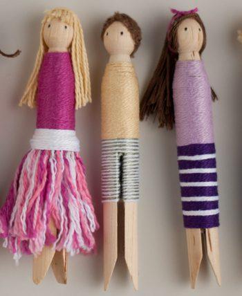 Clothespin Wrap Dolls