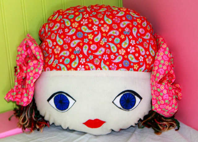 Gypsy Doll Face Pillows
