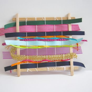 Craft Stick Ribbon Weaving Loom