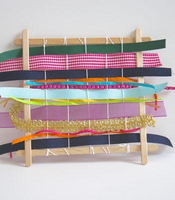Craft Stick Ribbon Weaving Loom