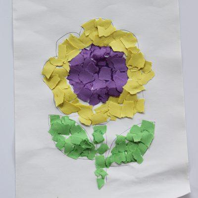 Mosaic Sunflower Fun Family Crafts