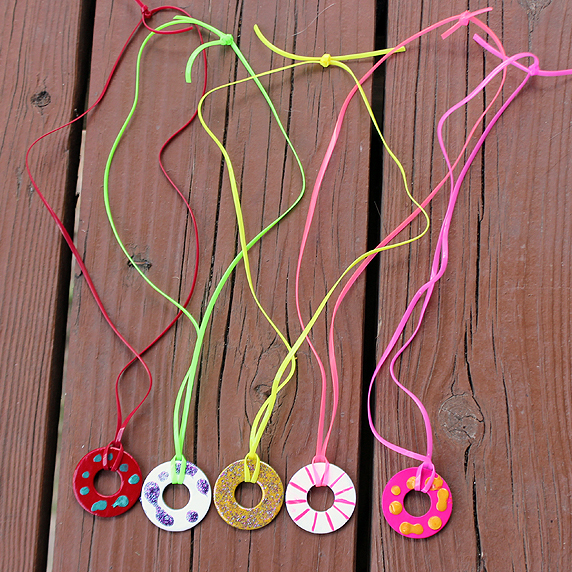 Washer necklace fun family crafts for Crafts for girls age 9