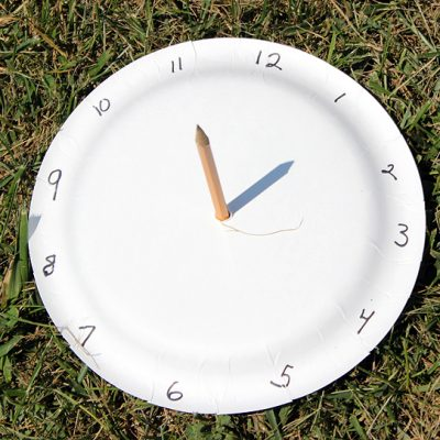 Paper Plate Sundial Fun Family Crafts