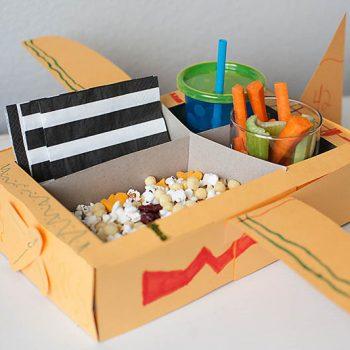 Airplane Movie Snack Tray
