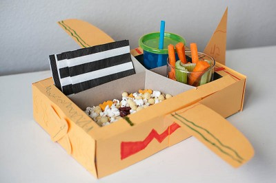 Airplane Movie Snack Tray