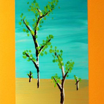 Reverse Painted Landscapes