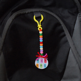 Smiley Backpack Tag