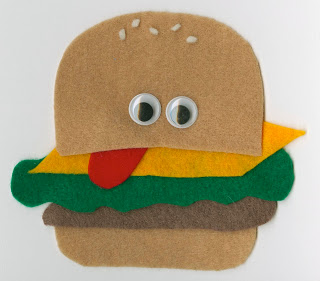 Felt Hamburger Fun Family Crafts
