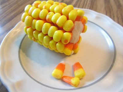 Candy Corn on the Cob