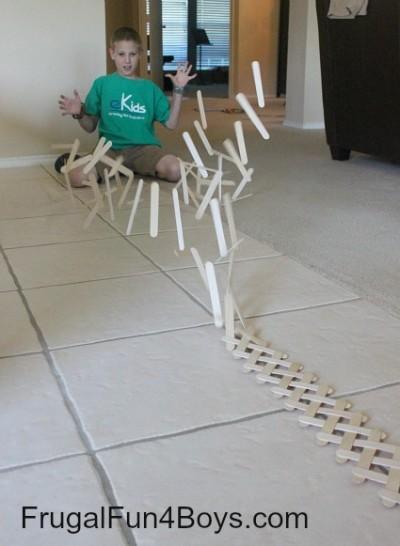 Craft Stick Chain Reaction