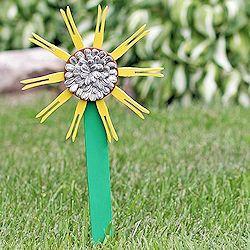 Clothespin Sunflower