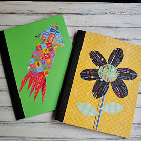 Decorating a Composition Notebook