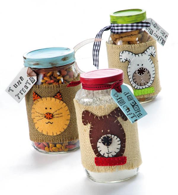 Dog And Cat Treat Jars Fun Family Crafts