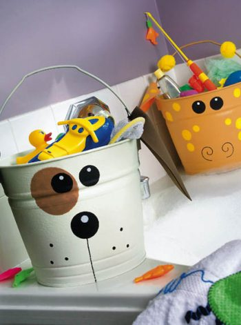 Dog and Giraffe Toy Buckets