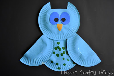 colorful paper plate owl colorful patterned owls family crafts 3677