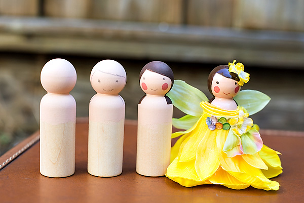 Wooden Peg Fairy Dolls