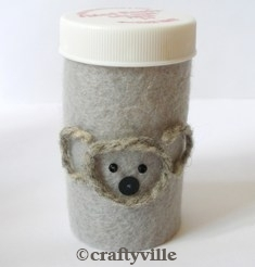 Upcycled Pill Bottle Koala