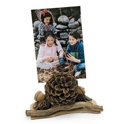 Pinecone Photo Holder