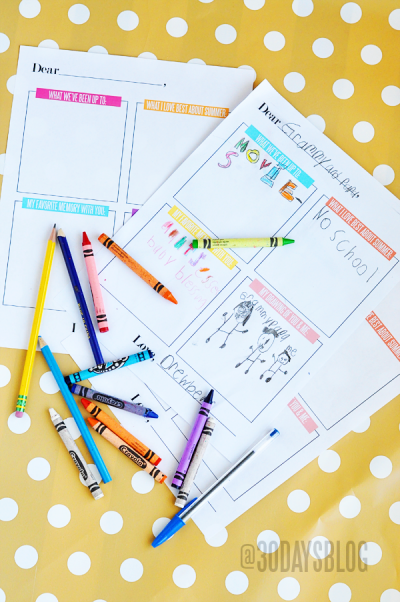 Printable Summer Letters