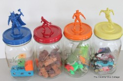 Superhero Jar Toy Storage