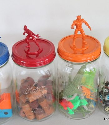 Superhero Jar Toy Storage