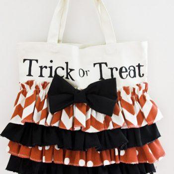 Ruffled Trick or Treat Bag