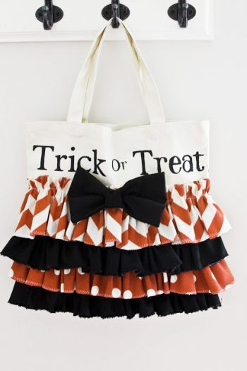 Ruffled Trick or Treat Bag