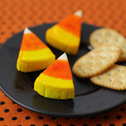 Candy Corn Cheese Wedge