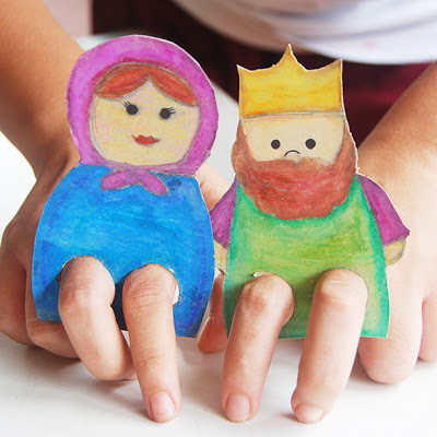 Cardboard Finger Puppets
