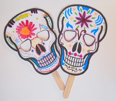 Day of the Dead Printable Masks