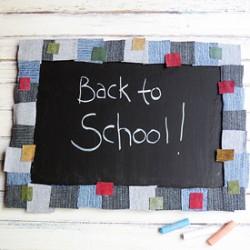 Denim Mosaic Chalkboard