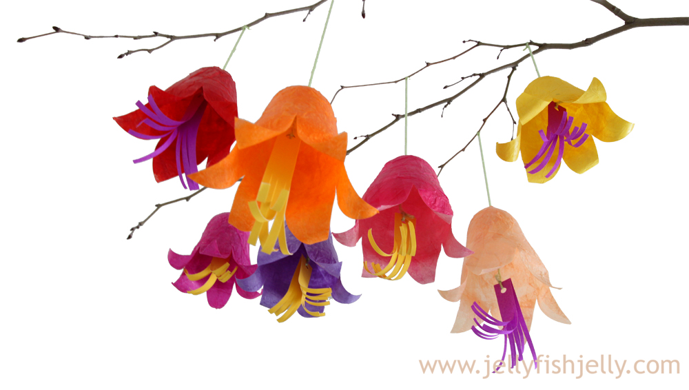 Tissue Paper Hanging Flowers