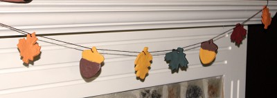 Salt Dough Fall Leaf Garland