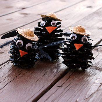 Pinecone Black Crows