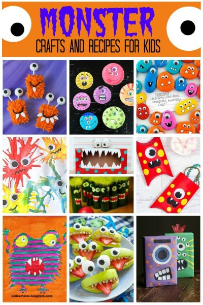 monster crafts and recipes for kids
