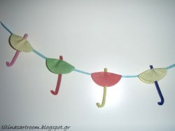 Cupcake Liner Umbrella Garland
