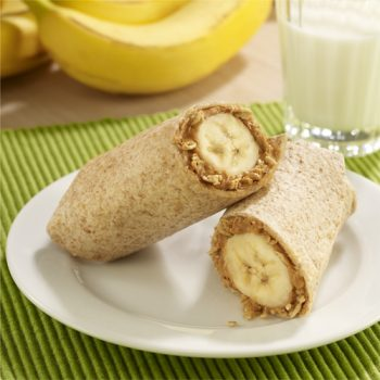 Peanut Butter and Banana Roll-Ups