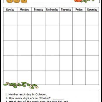 October Learning Calendar