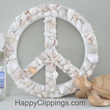 Shell Peace Sign Decoration