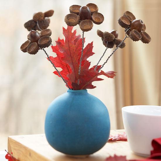 Acorn Flower Arrangement