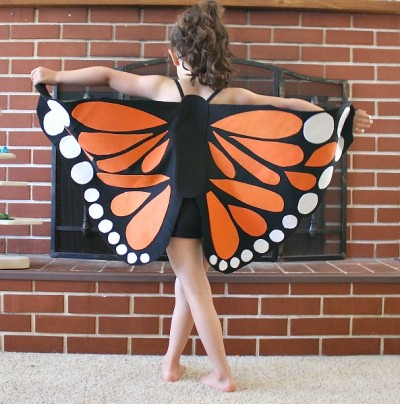 Felt Monarch Butterfly Wings