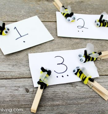 Bee-Themed Number Matching Game