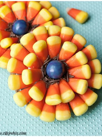 Candy Corn Flower Cookies