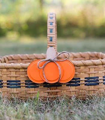 Canning Jar Lid Pumpkin Craft
